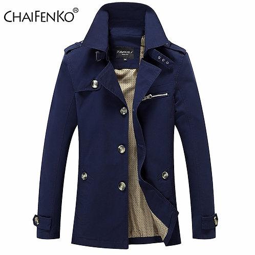 CHAIFENKO New Autumn Winter Jacket Men Cotton Slim Parka Coat