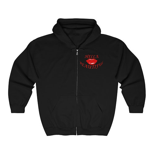 HELLA BEAUTIFUL Heavy Blend™ Full Zip Hooded Sweatshirt
