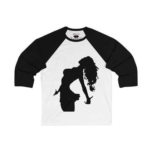 HELLA BEAUTIFUL  3/4 Sleeve Baseball Tee