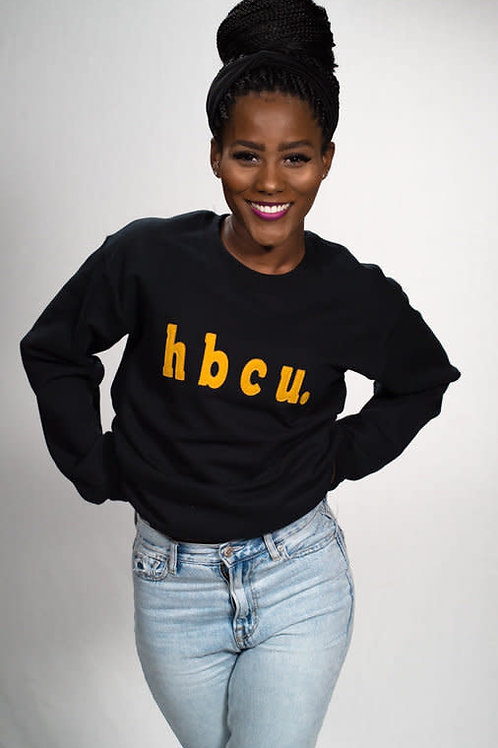 hbcu. Black and Gold Sweatshirt