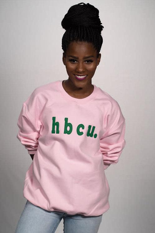 hbcu. Pink & Green Sweatshirt