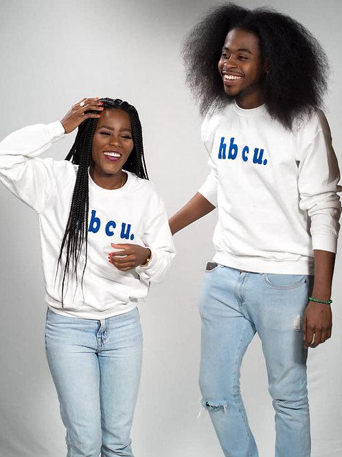 hbcu. White & Blue Sweatshirt