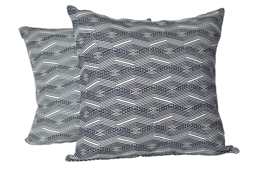 Pair of One of Kind intersecting Lines Pillows