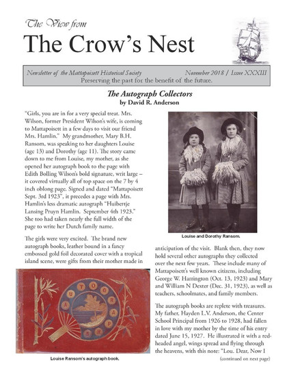 Sample of our newsletter.