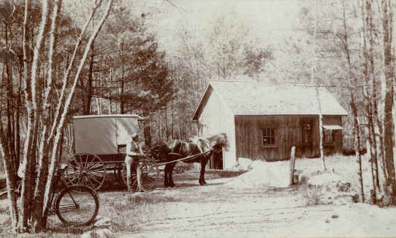 Charles Atsatt (pictured) delivered water to locations in Mattapoisett, Fairhaven, and New Bedford from this spring, known as King Philip's or Crystal Spring.