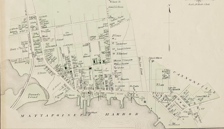 1879 Map of Mattapoisett Village
