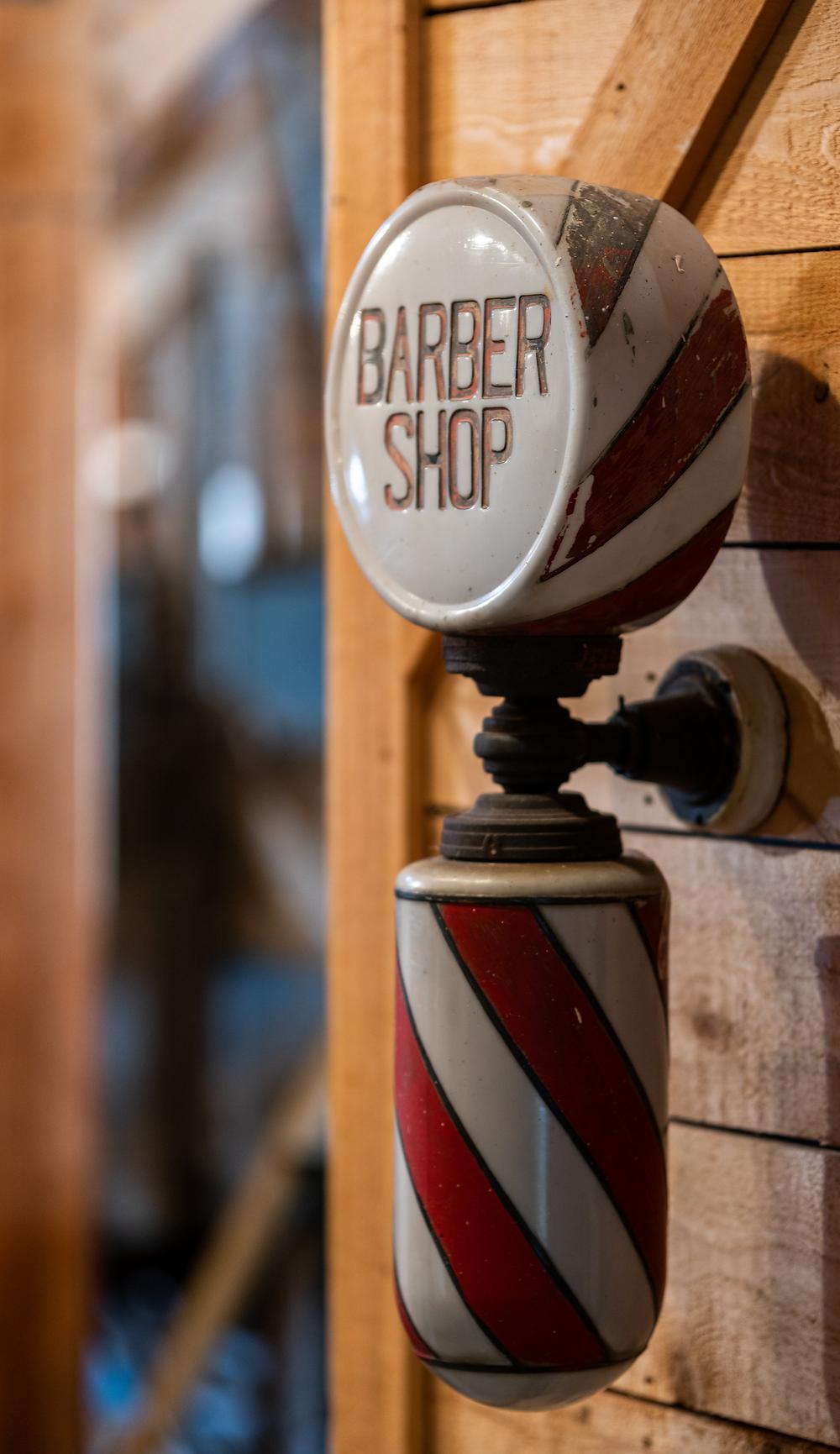 Barber Shop sign beloging to Abraham Skidmore