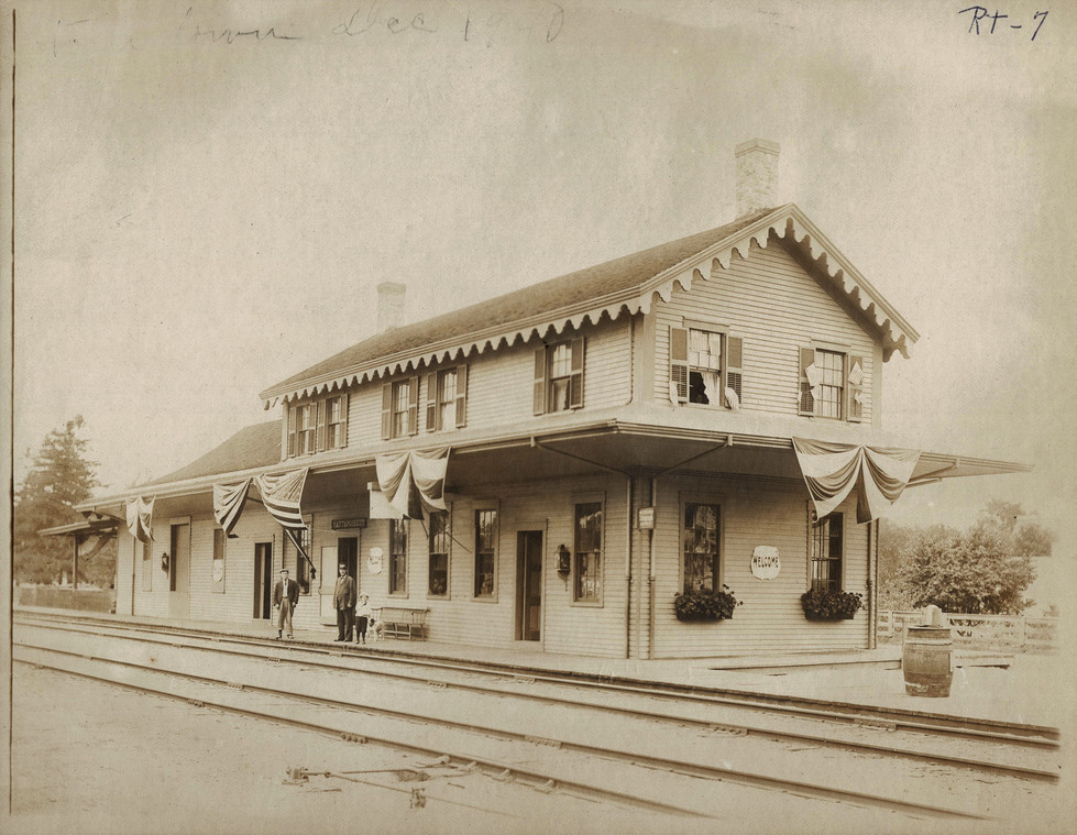 The Mattapoisett train station on Depot Street. The stationmaster lived upstairs.