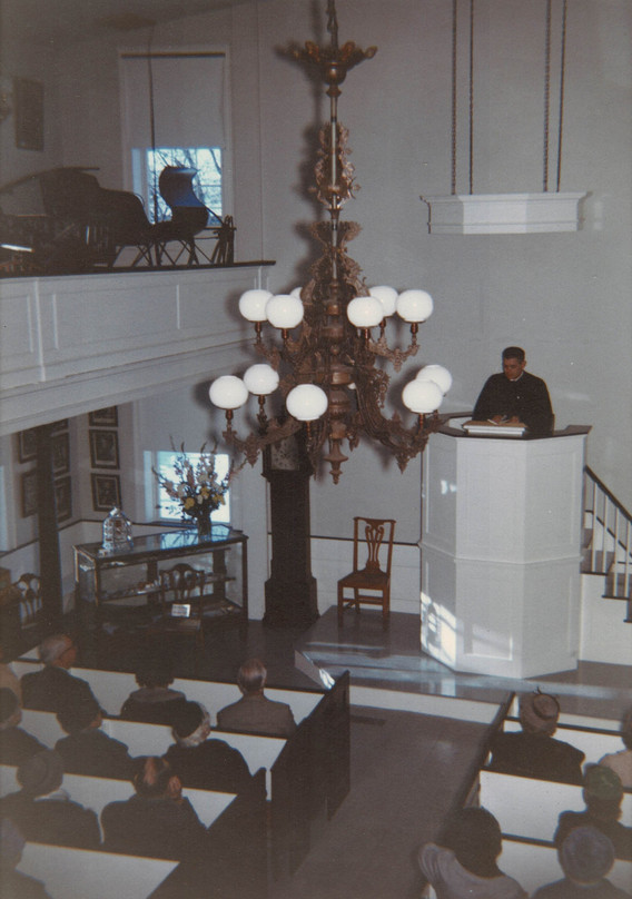 Dedication of the new pulpit, February 1962.