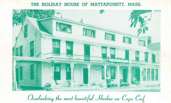 A postcard advertising the Holiday House.