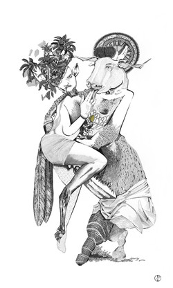 Pan and the Minotaur