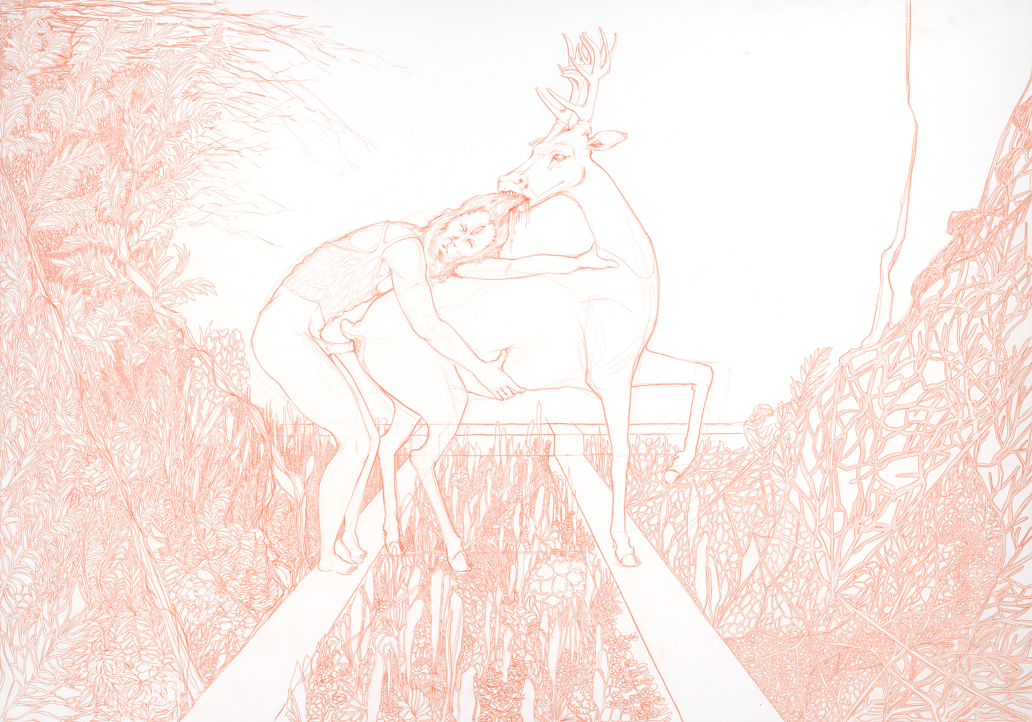The Faun and the Deer