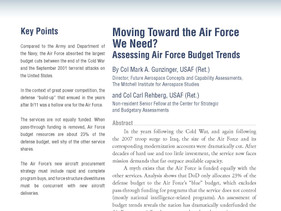Moving Toward the Air Force We Need?