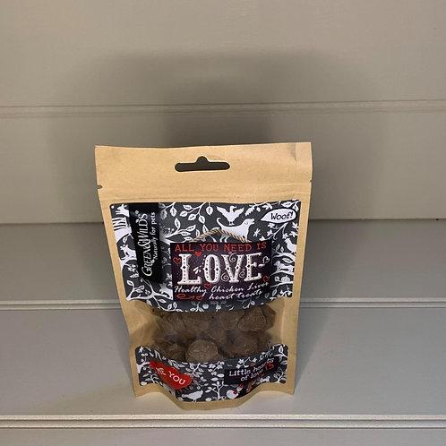 Green & Wilds Love Liver Heart Treats