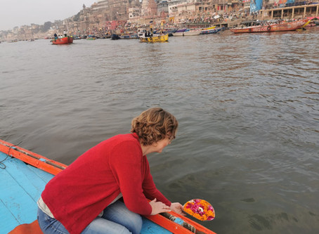 Morning boatride on the river ganges in Varanasi