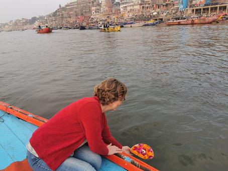 Morning boatride on the river ganges in Varanasi