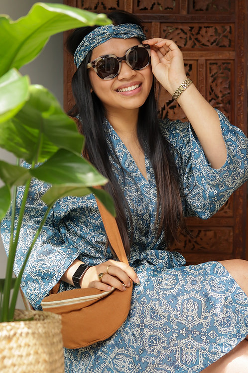 Kimono Blue (short) & haarband