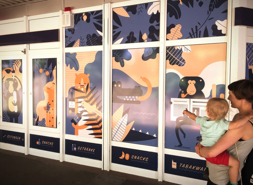 Kiosk Safari - Fensterdekore