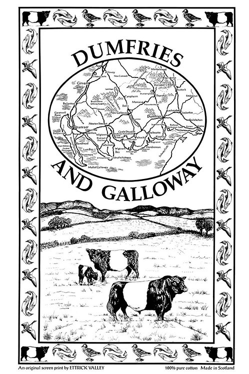 Dumfries and Galloway Tea Towel