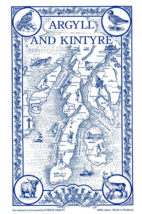 Argyll and Kintyre Tea Towel