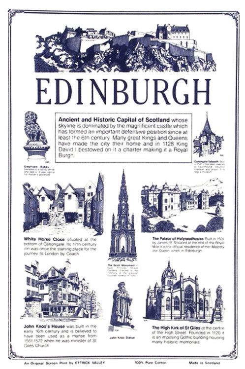 Edinburgh Buildings Tea Towel
