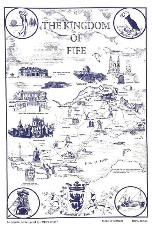Kingdom of Fife Tea Towel