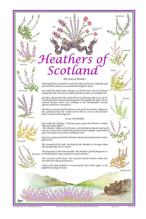 Scottish Heathers Tea towel