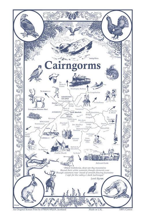 Cairngorms Tea Towel