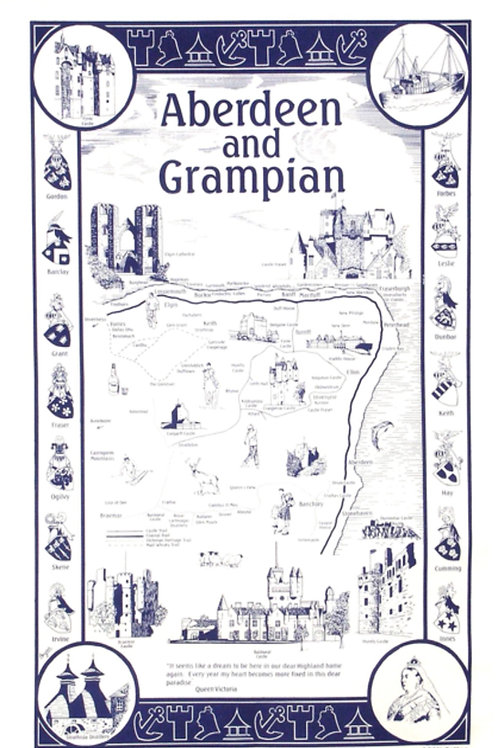 Aberdeen and Grampian Tea Towel