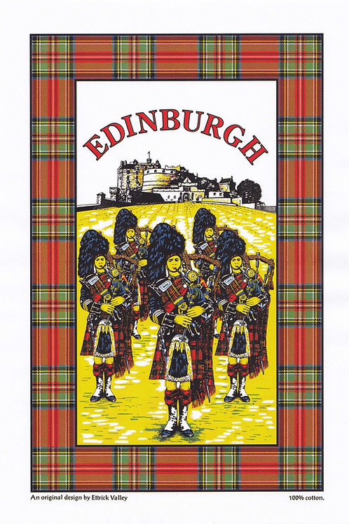 Edinburgh Piper Tea Towel
