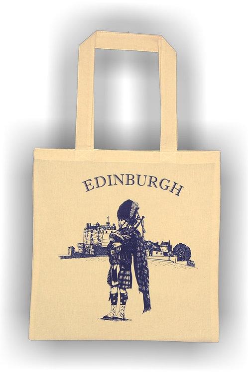 Edinburgh Piper Cotton Bag