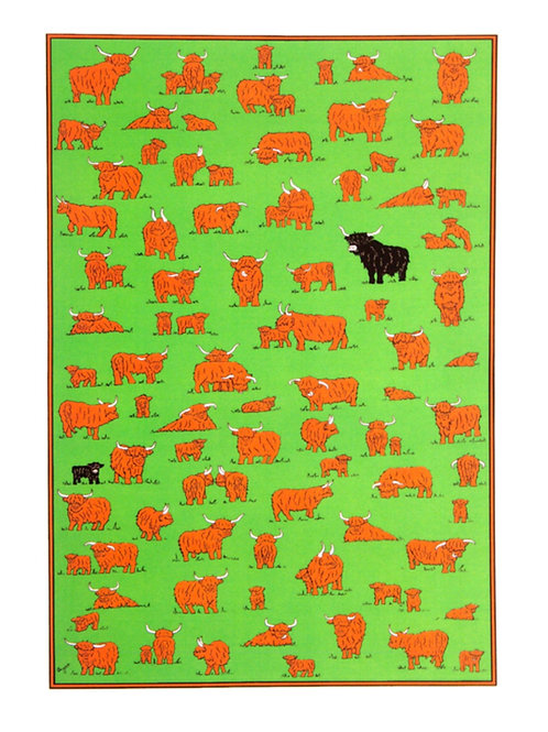 Highland Herd Tea towel