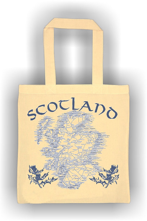 Scotland Map Cotton Bag
