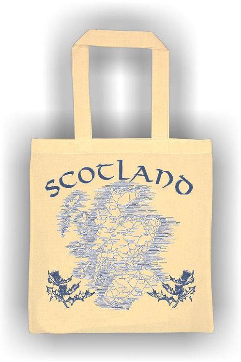 Scotland Map Cotton Bag