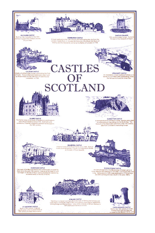 Castles of Scotland Tea towels