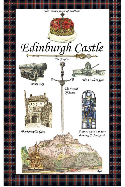 Edinburgh Castle Tea Towel
