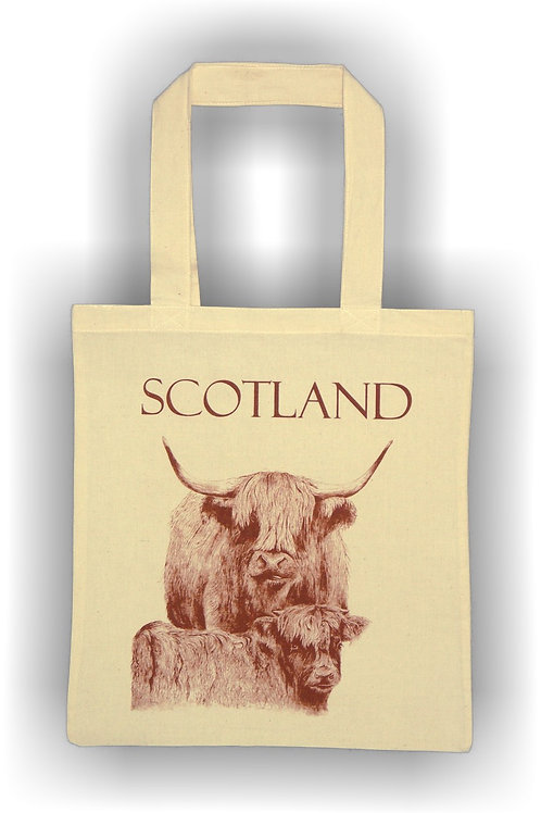 Cow and Calf Cotton Bag