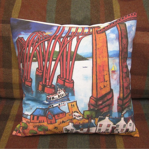 Crossing the Bridge Cushion Cover