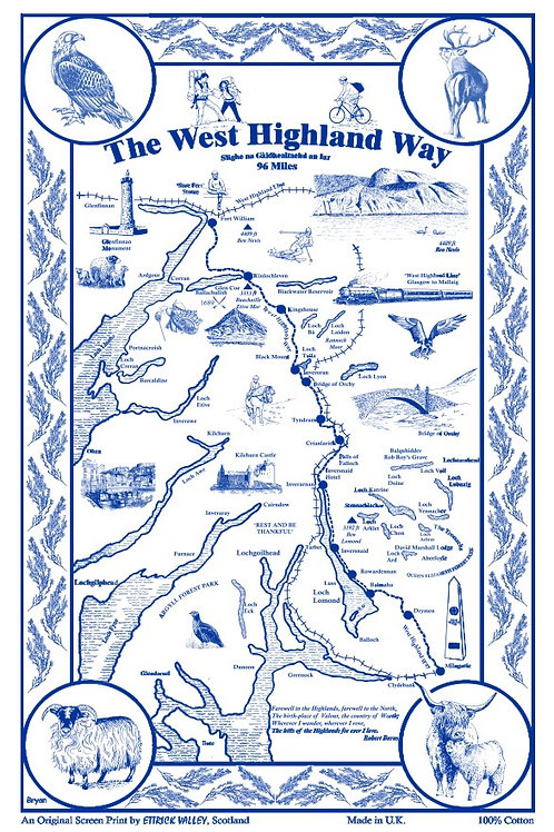 West Highland Way Tea Towel