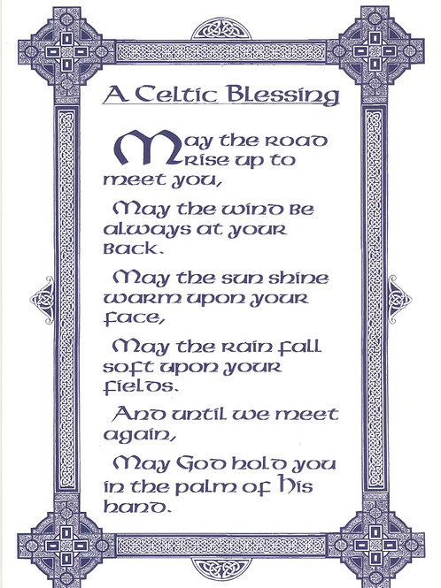 Celtic Blessing Tea towel