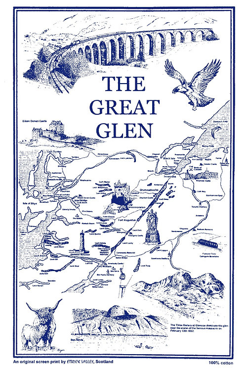 Great Glen Tea Towel