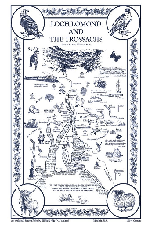 Loch Lomond Tea Towel