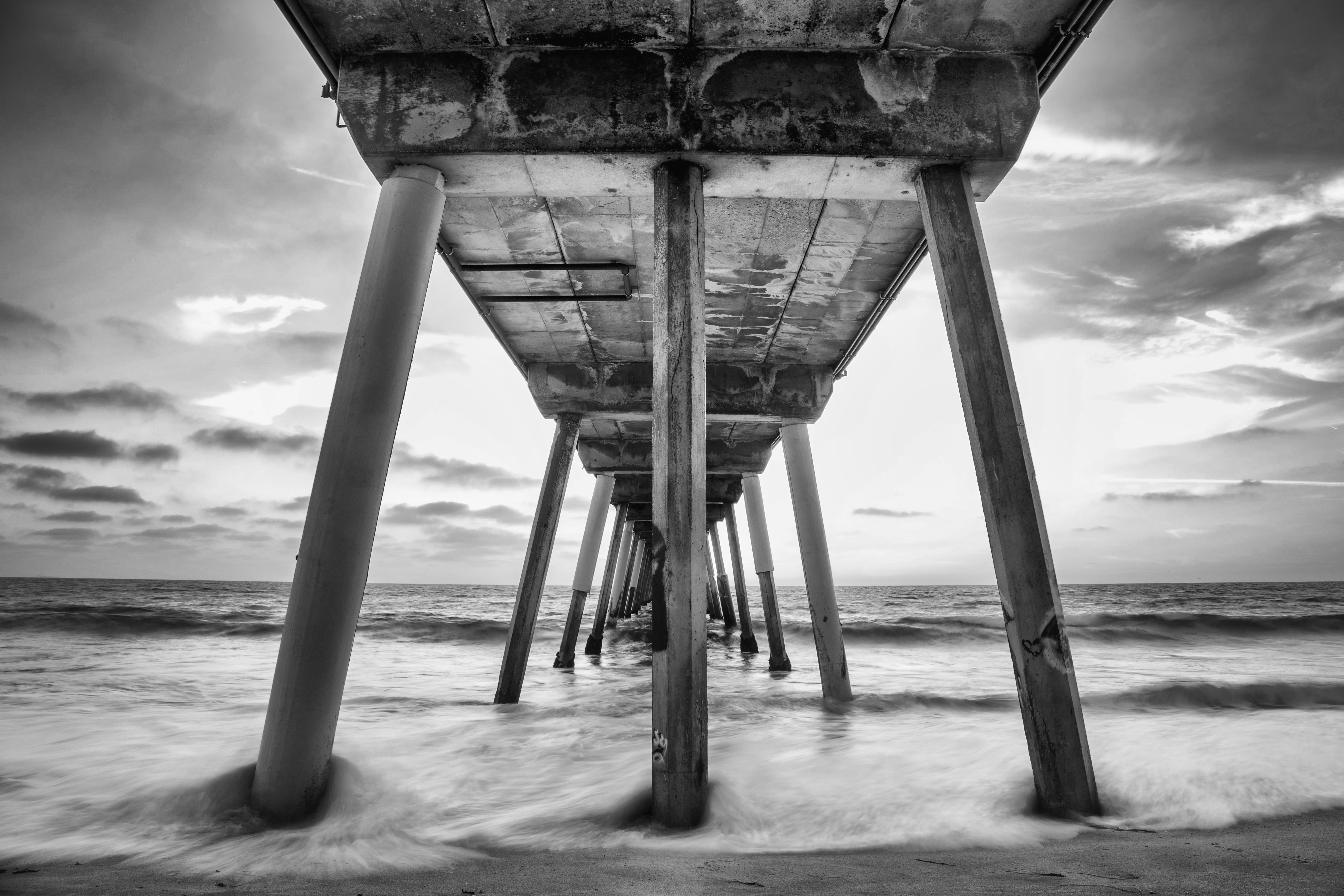Under the Hermosa Beach Pier