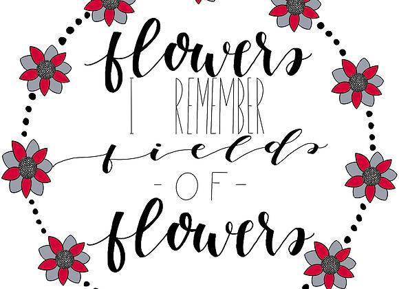 """Flowers"" Hadestown Lyric Wreath MADE DIGITALLY"