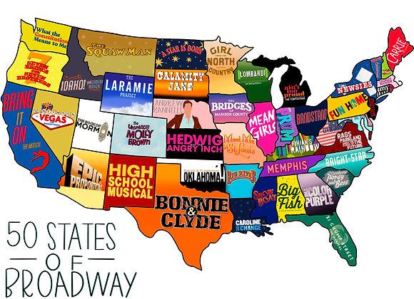 RECTANGLE 50 States Sticker