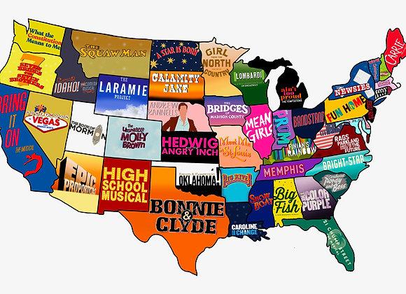 DIE-CUT 50 States Sticker