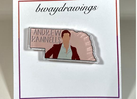andy randy acrylic pin