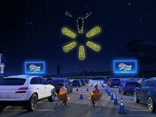 Walmart Lights Up the Sky with All-New Holiday Drone Light Show