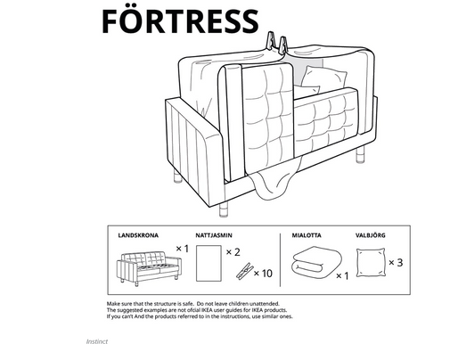 Retail Therapy: Ikea creates step-by-step fort instructions