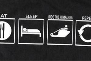 """EAT-SLEEP-RIDE THE HIMALAYA-REPEAT"" T-Shirt"